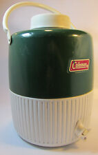 Vintage Coleman Camping Green WATER JUG Work Site Cooler Spout Cup 1979 USA