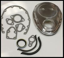 SBC CHEVY POLISHED ALUMINUM TIMING CHAIN COVER KIT # 6040-K