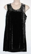 NEW with TAGS! EILEEN FISHER Sleeveless Velvet Black Dress Size Large, MSRP $338