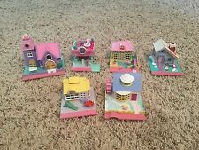 6 Vintage Polly Pocket Houses / Buildings Lot