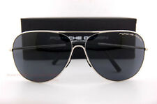 New Porsche Design Sunglasses P8605 8605 C Silver/Solid Gray Men Women