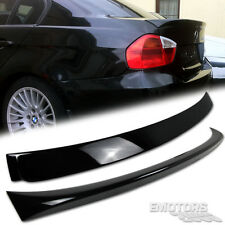 PAINTED BMW E90 3 SERIES 4D REAR A TYPE ROOF SPOILER & OE TYPE TRUNK SPOILER