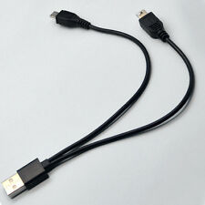 Multi-Function USB Male to Mini & Micro 2 In 1 Dual Plug Data Charger Cable Chic