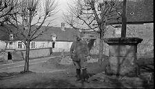 Soldat Grande Guerre mondiale Première WW1 - Négatif photo ancien