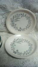 Biltons  made in england.. stoneware 6 1/2'' plates slate blue flower center