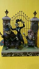 Disney Jim Shore 40Th Light Up Three Hitchhiking Ghost  NEW IN Box