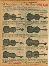 1911 ADVERTISEMENT Stainer Guarnerius Hopf Stradivarius Model Violins Violin