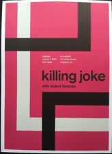 "Killing Joke,Violent Femmes,H20,2 Sided Punk /Rock Mini Poster Art 14x10"", R:189"