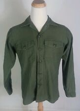 Vintage 1969 Vietnam OG 107 War Field Shirt Distressed Faded Large 60s Korea