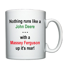 New Holland, Massey Ferguson, John Deere, Tractor, Farmer Joke Personalised Mug