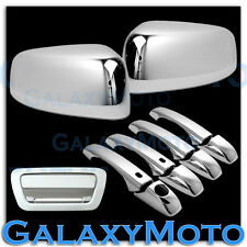 11-13 JEEP GRAND CHEROKEE Chrome TOP Half Mirror+4 Door Handle+Tailgate Cover