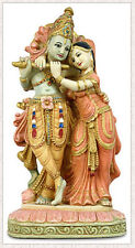 Radha and Krishna Hindu Puja Statue Figure Hand Painted #O107SP