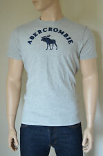 NUOVO Abercrombie & Fitch Henderson Lago Grigio MOOSE TEE T-SHIRT XL