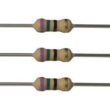 100 x 75 Ohm Carbon Film Resistors - 1/4 Watt - 5% - 75R - Fast USA Shipping