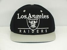 LOS ANGELES RAIDERS NFL ADJ. VINTAGE SNAPBACK CAP/ FLAT BRIM NEW HAT E-53