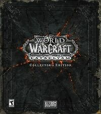 Wow Cataclysm-Collector 's Edition vacío Empty box World of Warcraft