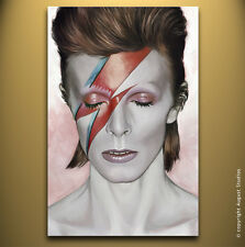 DAVID BOWIE Original Artwork New Signed Print Music Poster CANVAS ART PAINTING