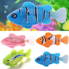 #Blue Swimming Robofish Activated Battery Powered Robo Fish Toy Robotic Kids cq