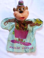 VTG Ideal Toy 1960's Magilla Gorilla Hanna Barbera vinyl head Hand Puppet Doll