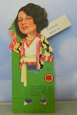 "Lucky Strike T14 Bridge Favor ~ Tally Card -Lenore Ulric Star in ""Pagan Lady"""