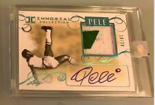 PELE 2016 LEAF PELE IMMORTAL COLLECTION GAME USED JERSEY AUTO /20