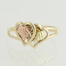 Coleman Black Hills Gold Ring - 10k Yellow, Rose, & Green Gold Etched