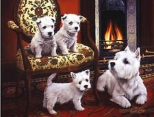 WEST HIGHLAND WHITE TERRIER WESTIE DOG FINE ART PRINT