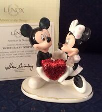 Lenox Disney Sweetheart Forever Mickey Minnie Figurine W/COA New In Box Ist Qt