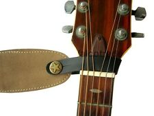 Acoustic Guitar Strap Button Leather Easy Fit for Folk Classical Accoustic Gift
