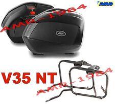 KIT VALIGIE V35 NTECH + TELAIO SUZUKI GSF 650 BANDIT 07-11 BORSE V35NT + PLX539