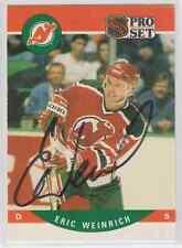 Autographed 90/91 Pro Set Eric Weinrich - Devils