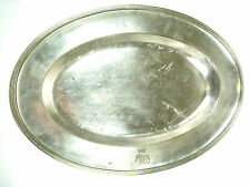 Old SILVER Plated Brass Prusia German H. A. Jurst & Co Plate Tray Nr 4830