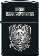 Zippo 70th Anniversary D-DAY Commemorative Lighter 1944 Black Matte New Rare