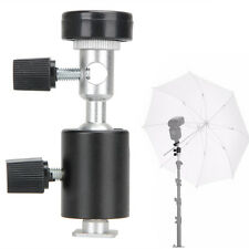 360° Swivel Flash Shoe Umbrella Holder Light Stand Tripod Bracket Adapter C Type