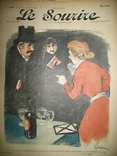 LE SOURIRE JOURNAL HUMORISTIQUE N° 105 DESSINS GRÜN VILLEMOT HUARD ROUBILLE 1901