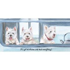 Scruffy Mutts Westie Greeting Card – Caravanning!