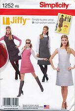 SIMPLICITY SEWING PATTERN 1252 MISSES SZ 6-14 RETRO '60s A-LINE PINAFORE/DRESS