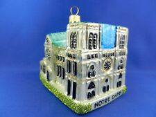 Notre Dame Cathedral Paris France Glass Christmas Tree Ornament Poland 011123