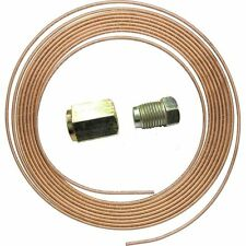 "COPPER BRAKE PIPE HOSE LINE 3/16"" X 25 FT 22G + 10 EACH 10MM MALE & FEMALE NUTS"