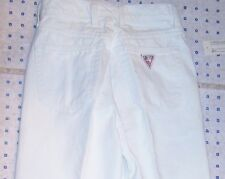 NEW WITH TAGS 1980's ICONIC GUESS VINTAGE SKINNY LEG CLASSIC RISE WHITE JEANS 27