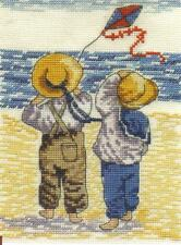 "All Our Yesterdays ""Perfect Day to Fly a Kite"" Cross stitch Kit 12.5cm x 17.5cm"