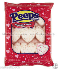 PEEPS^ 9pc Marshmallow Hearts VANILLA CREME Valentines Day CANDY 3 oz Exp. 10/17
