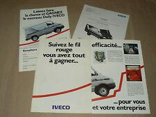 Prospectus Camion IVECO Le Nouveau Daily  1990 catalogue  prospekt LKW truck