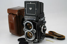 Rolleiflex 2.8F White Face Planar 80mm f/2.8 +Leather Case +Strap -NearMint(A98)