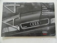 1997  Audi A4  Quick Reference Guide Owners Manual Supplement