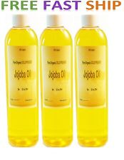 4.5 oz PURE ISRAEL JOJOBA OIL COLD PRESSED GOLDEN ORGANIC Free Fast SHIP