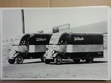 "12 By 18"" Black & White Picture 1934 FORD SPECIAL BODIED CAB OVER TRUCKS"