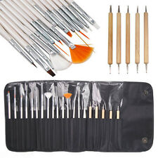 20PCS Nail Art Design Painting Brushes Set Wooden Dotting Pen Bundle Tool Kit