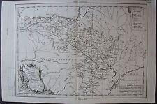 CHOROGRAPHIE DESROYAUMES D'ARAGON NAVARRE ETPROVINCE BISCAYE ORIGINALE DE 1773