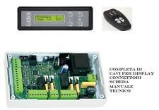 scheda elettronica centralina per stufa a pellet universale display,telec.,cavi